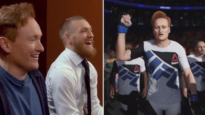 Conan O'Brien takes on Conor McGregor in UFC 2 and gets wrecked