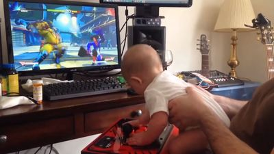 6-month old baby beats Street Fighter 5's Story Mode
