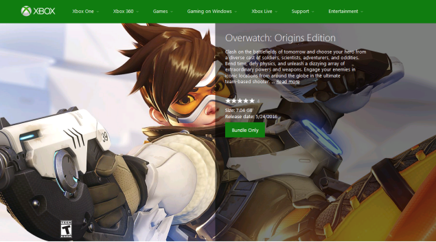 Overwatch's Xbox One file size reveled
