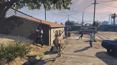 GTA 5 mod follows invincible wandering deer 24 hours a day