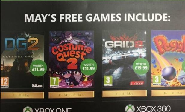 Leaked Xbox One Games Rumor: May Game...
