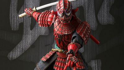 Check out this awesome samurai Spider-Man figure