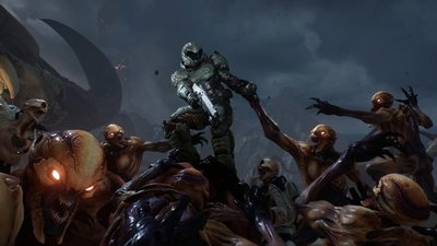 Check out DOOM's launch trailer which has you fighting like hell