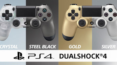 New Crystal and Steel Black limited edition Dualshock 4 controllers release this July