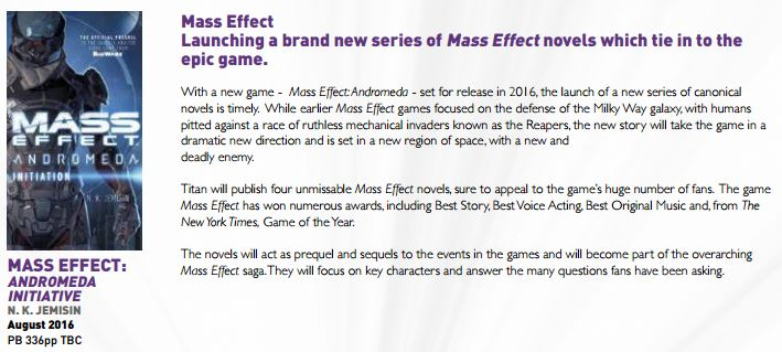 Four new Mass Effect: Andromeda books will become an integral part of the entire saga