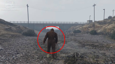 Big Foot spotted in GTA V / photo credit: GTA Series Videos