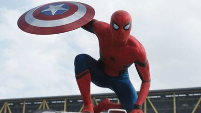 Check out Tom Holland in costume on the Spider-Man: Homecoming set
