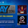 Sony's PLAY 2016 lineup, which includes Abzu and Headlander, is now available for pre-order
