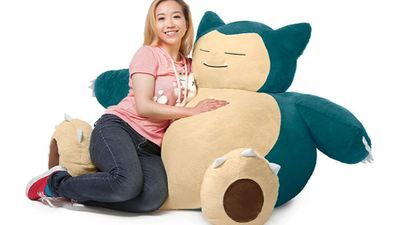 ThinkGeek finally creates a big, comfy Snorlax bean bag chair