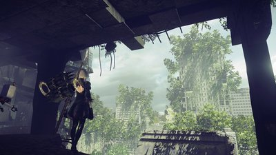Three new screenshots of Nier: Automata's ruined world