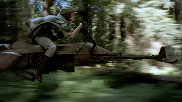 Custom Star Wars speeder bike is a kid's dream come true