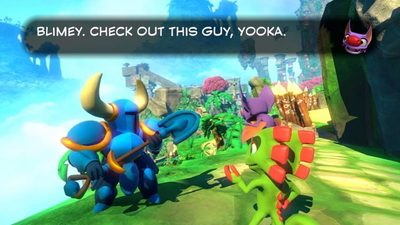 Shovel Knight joins the cast of Yooka-Laylee as an NPC