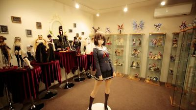 Someone spent $20K on this life-sized anime school girl figurine