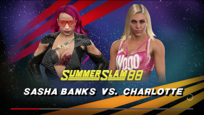 [Watch] Sasha Banks vs. Charlotte in WWE2k17