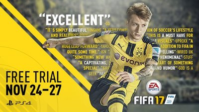FIFA 17 gets free weekend on PS4 and Xbox One starting today