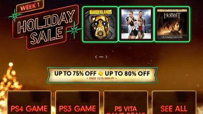 PS Store Holiday Sale Week 1 discounts PS4, PS3, and Vita games; Movies too