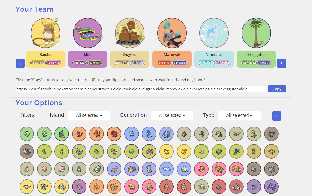 This is the best Pokemon Sun/Moon team planner you'll ever find