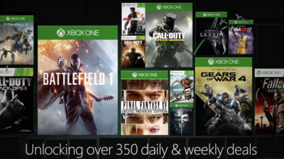 Xbox One, 360 game discounts appear on Xbox Store early for Countdown to 2017 Sale