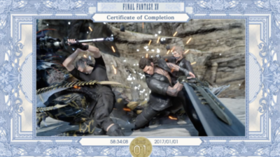 Someone beat Final Fantasy XV at level 1 without using a single item