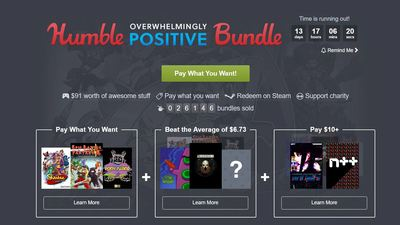 Humble Bundle's latest pack focuses on indie games rated 'Overwhelmingly Positive' on Steam, costs at most $10
