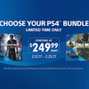 PS4 Bundles price drop to $249 for limited time