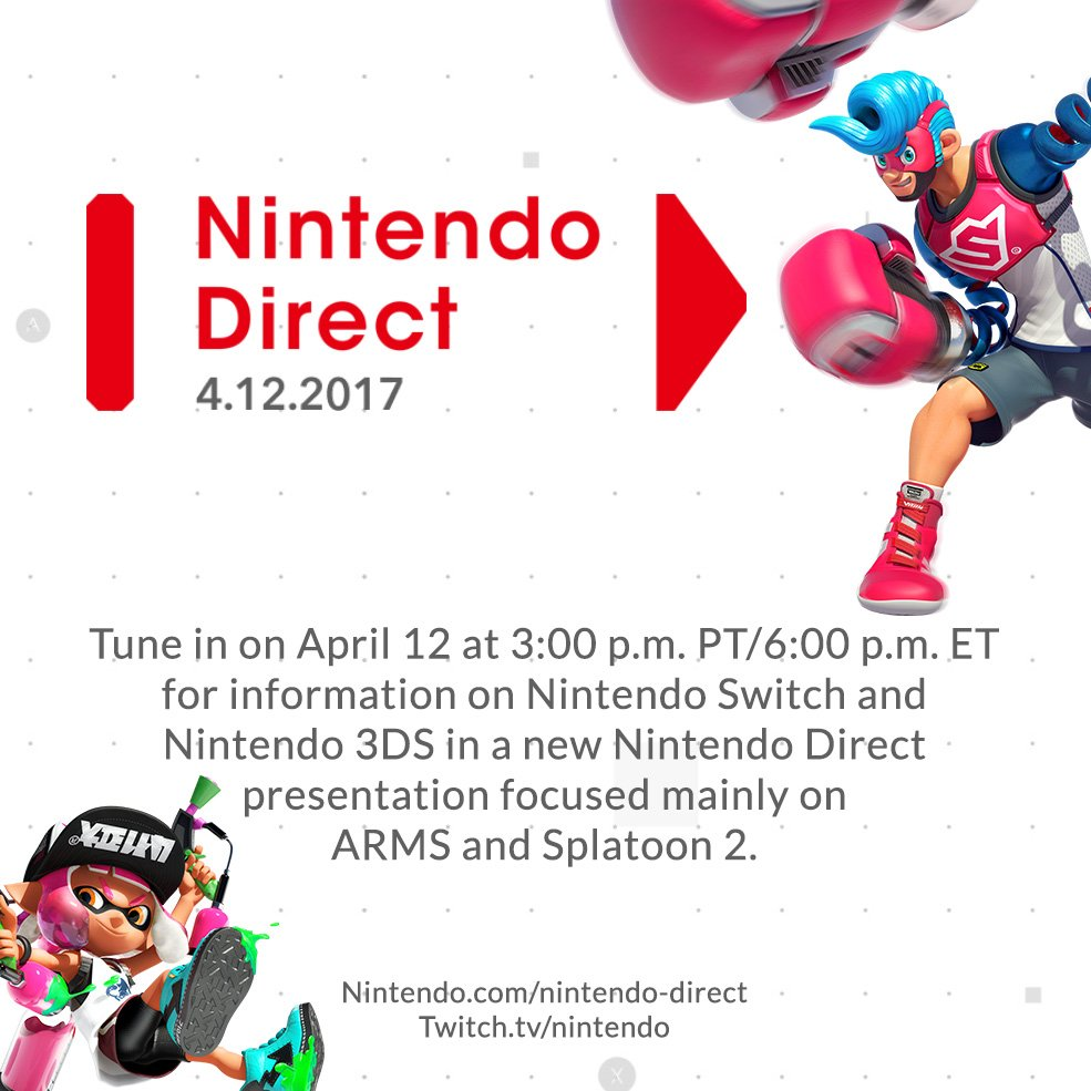 A New Nintendo Direct Announced; Will Focus On ARMS and Splatoon 2