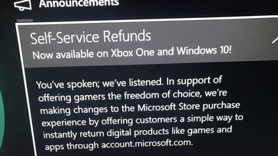 Microsoft rolling out Self-Service Refunds on Xbox One, Window 10 to select Insider Members