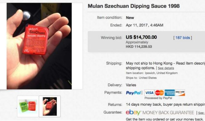 Thanks to Rick and Morty, a packet of Mulan Szechuan sauce sold for nearly $15,000
