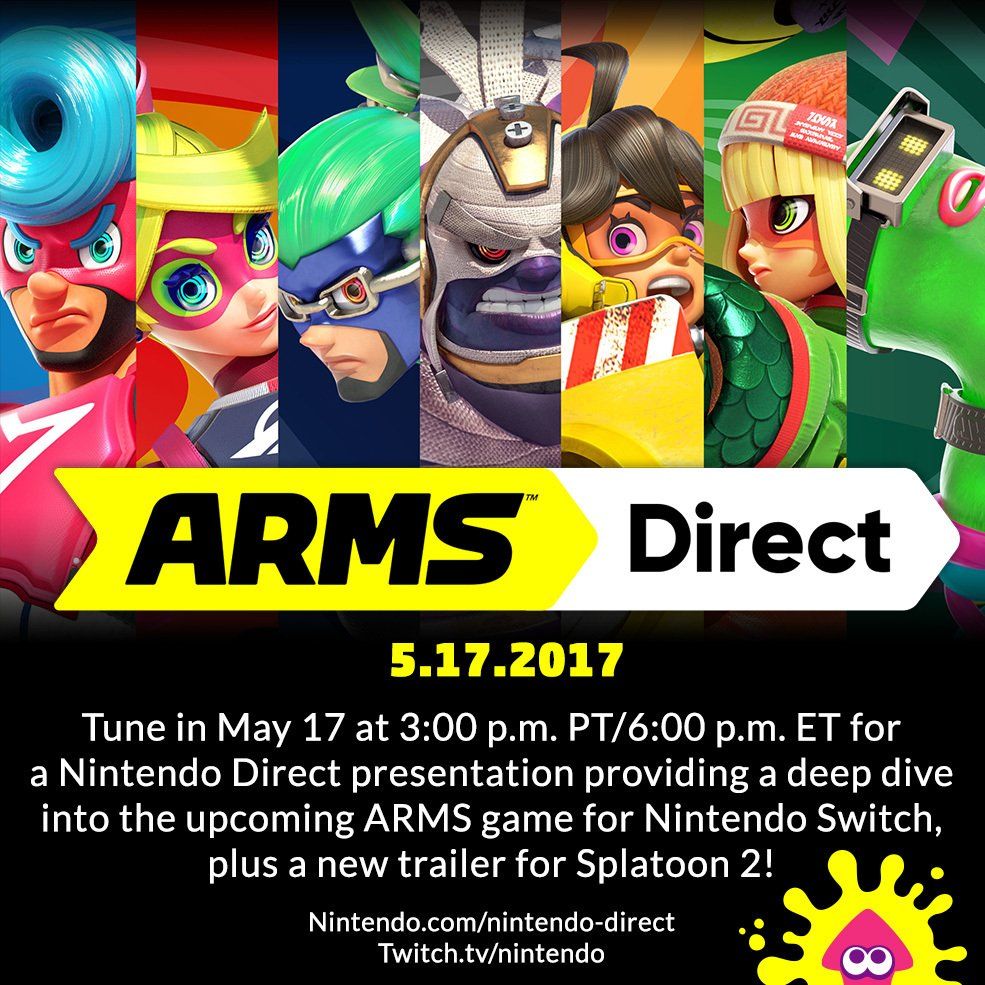 New Nintendo Direct for ARMS Scheduled For Tomorrow, May 17