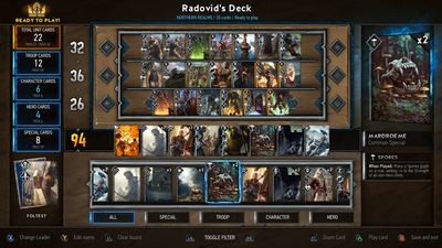 Public Beta for Gwent: The Witcher Card Game will begin next week