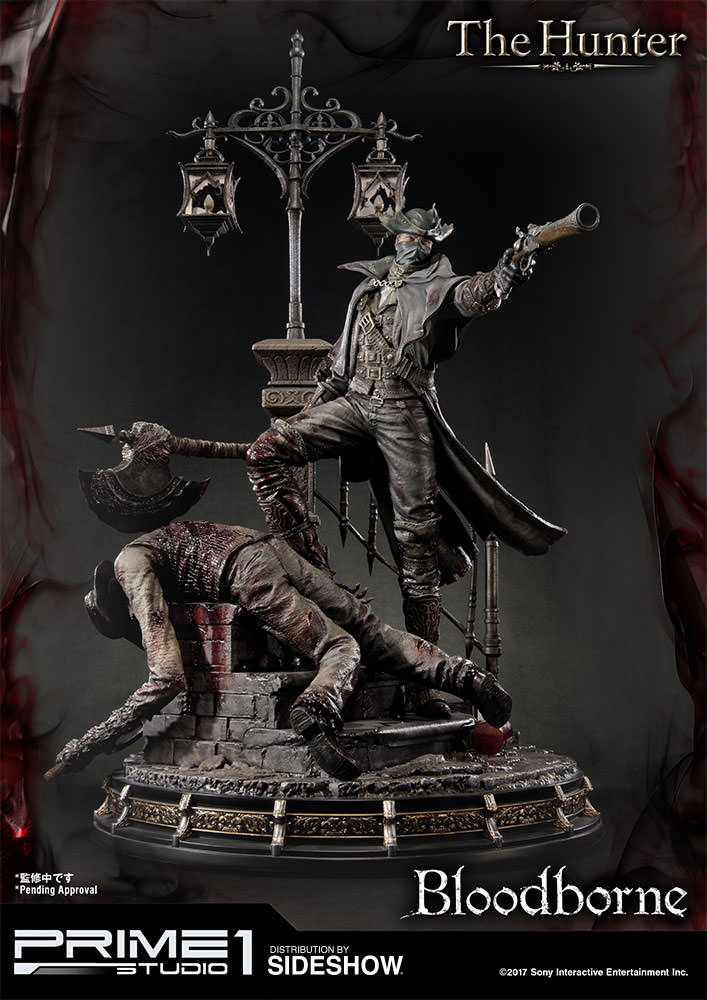 $800 Bloodborne statue features The Hunter slaying monsters in epic fashion