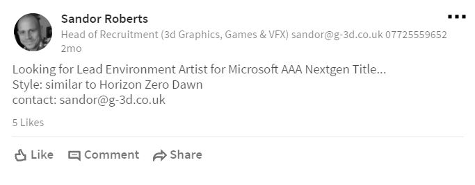 Microsoft is allegedly developing a AAA game with a style 'similar to Horizon: Zero Dawn'