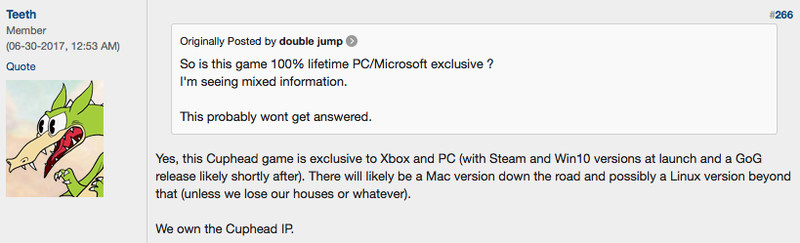 Cuphead Is a Xbox One, PC Exclusive