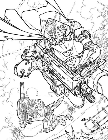 Destiny is pushing its brand to a new medium, the adult coloring book