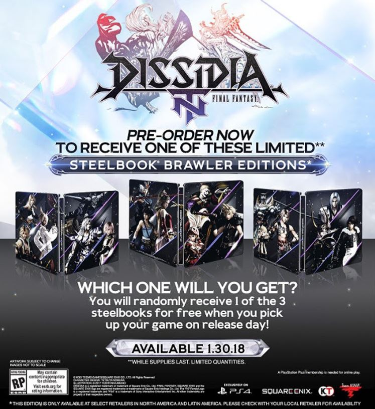 Release Date For Dissidia Final Fantasy NT Announced