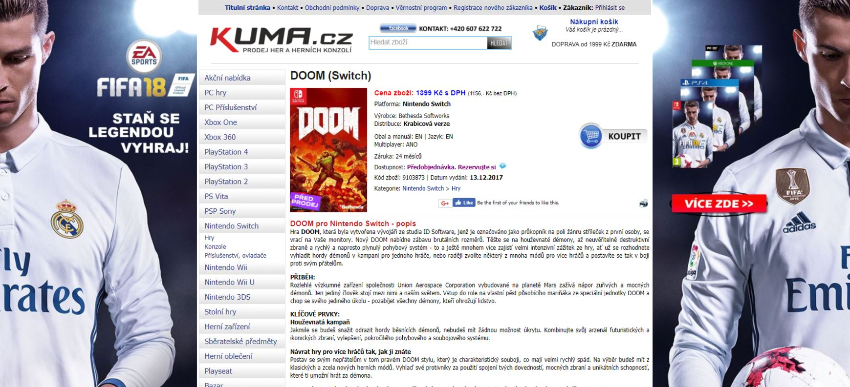 [Rumor] DOOM's Switch version will release in December