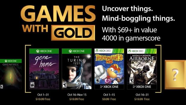 Xbox Live Games With Gold October 2017 Titles Revealed