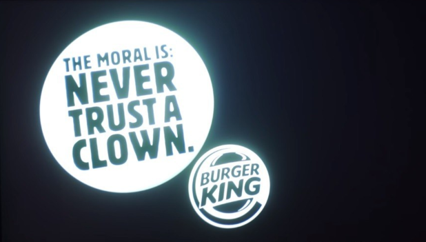 [Watch] Burger King puts anti-clown advertisement at the end of 'It' screening