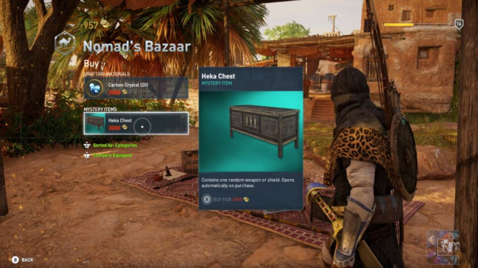 It looks like Assassin's Creed: Origins might have Loot Boxes