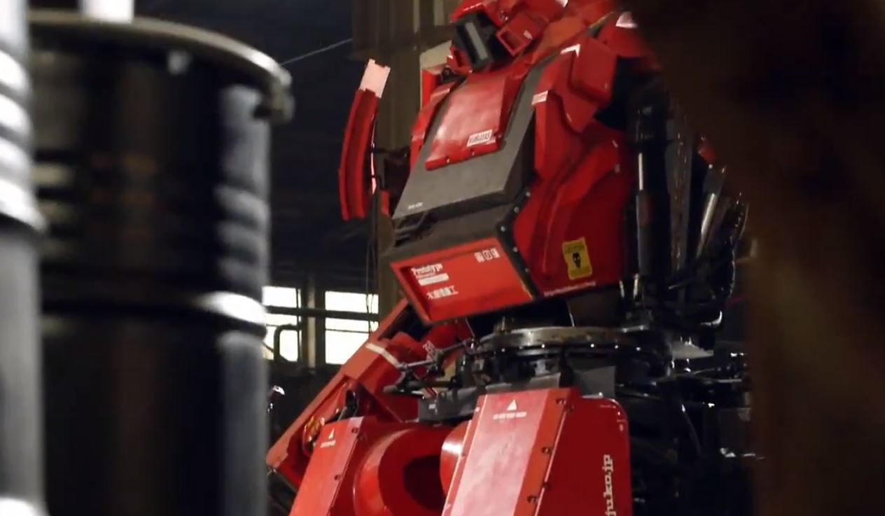 First real-life giant robot battle to take place tonight pitting Japanese robot against American robot
