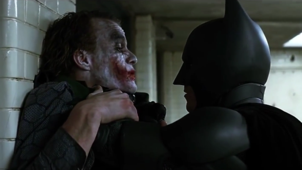 Heath Ledger wanted Christan Bale to actually beat him up in The Dark Knight