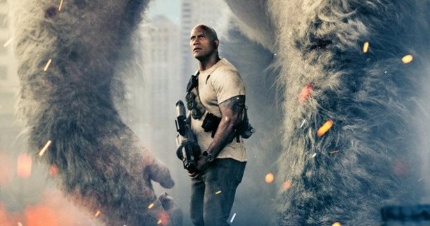 Dwayne Johnson Battles Gigantic Beasts in the First 'Rampage' Trailer