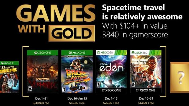 Warhammer, Child of Eden Highlight December's Games With Gold Lineup