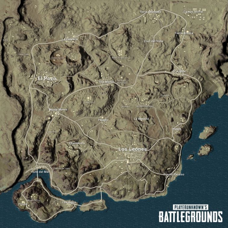 PlayerUnknown's Battlegrounds officially reveals its new map, Miramar