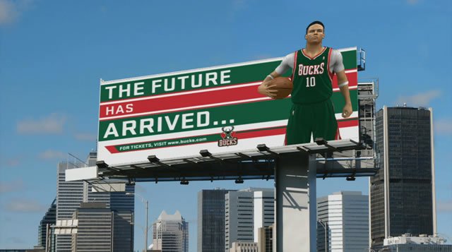 NBA 2k12 my player mode billboard