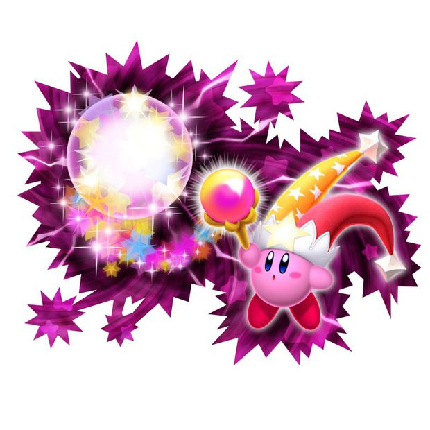 be excited awesome promo art for kirbys return to dream land