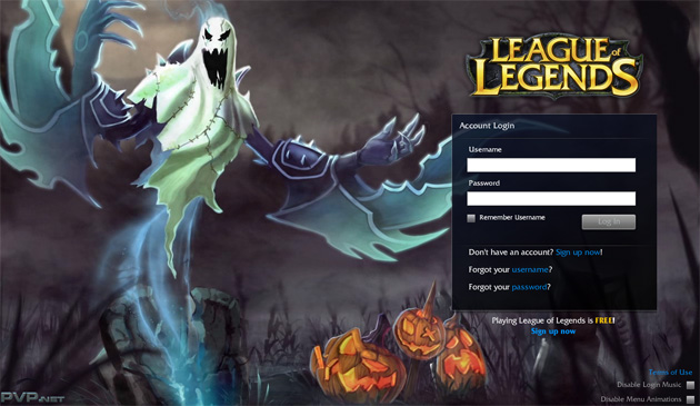 League of Legends The Harrowing Splash screen