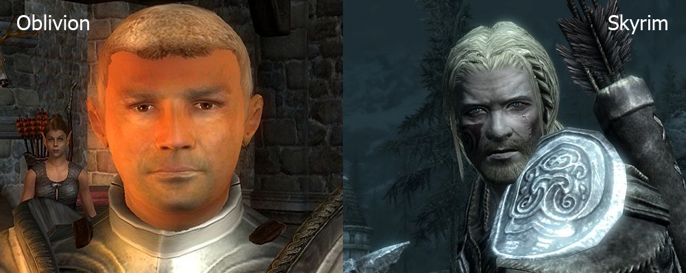 Skyrim male comparison