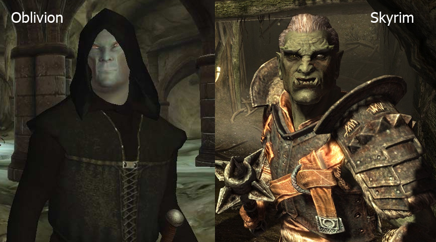 The Graphical Advancements of Skyrim: A Comparison to Oblivion