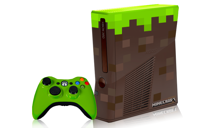 Win a minecraft themed xbox 360 at minecon for Mine craft for xbox